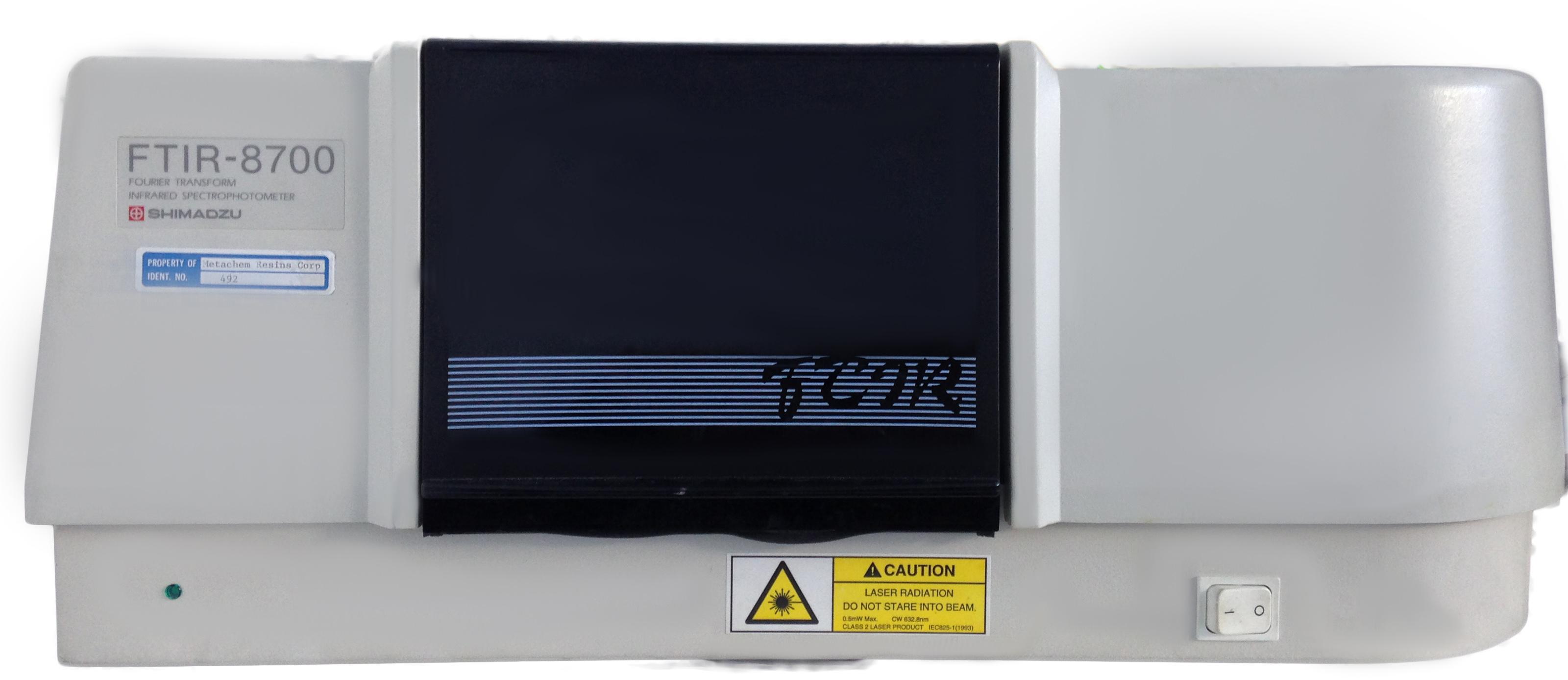 Shimadzu FTIR 8700 Spectroscopy, Mereco R&D