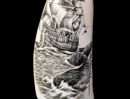 Scrimshaw, ivory reproduction material for Jewelry manufacturing